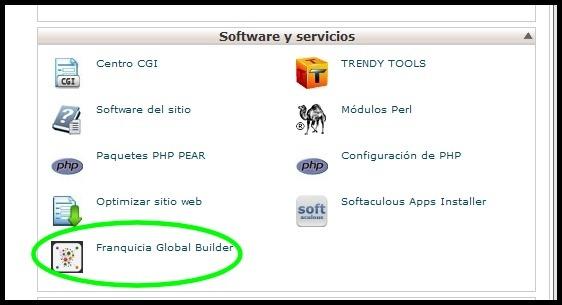 Franquicia Global Builder: Primeros pasos