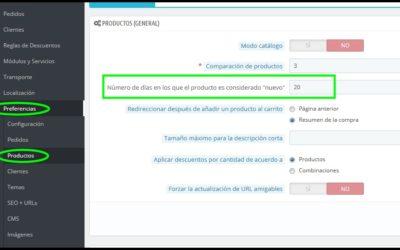 Configurar productos en página de Inicio en Prestashop 1.6