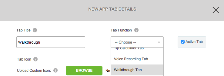 Tutorial Tab