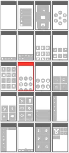 configuracion de botones de la app